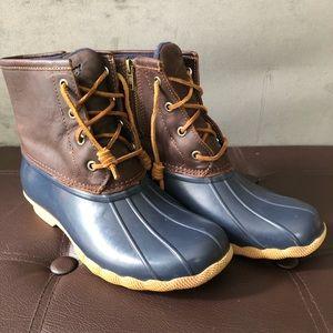 Sperry duck boots women's 7